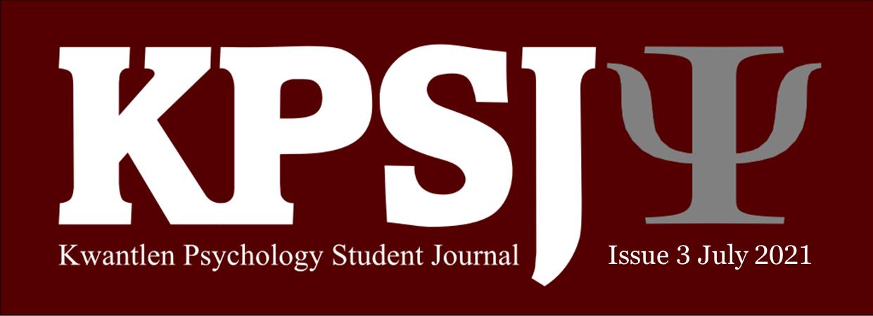 KPSJ, Kwantlen Psychology Student Journal, Issue 3, July 2021